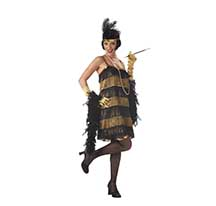 costume jazz time honey black and gold
