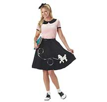 costume 50's hop with pood;e skirt