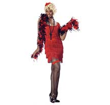 costume fashion flapper red